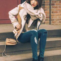 Kış Kombin Seçenekleri Yırtık Jean Modası