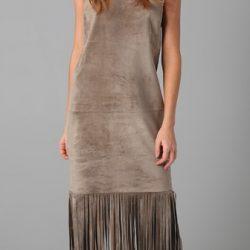 Uzun ve Püskül Detaylı Çok Zarif Elbise Modeli