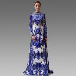 Oldukça Hoş Uzun Çiçek Desenli Elbise Modeli