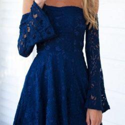 Dantel İşlemeli 2017 En İddialı Kloş Elbise Modelleri