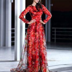 Tül Detaylı Seçil Store Abiye Elbise Modelleri