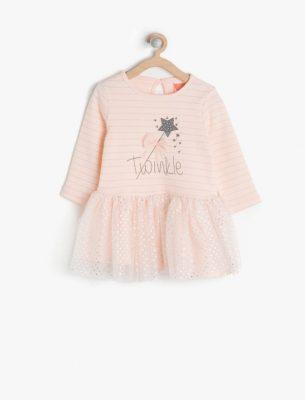 En Şirin Koton Kız Bebek Elbise Modelleri