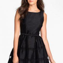 Siyah Renkli Yeni Sezon Kloş Elbise Modelleri
