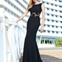 Siyah Renkli Çok Şık Yeni Sezon Seçil Store Abiye Elbise Modelleri