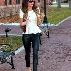 Sokak Modasının Trendi Peplum Bluz Dar Paça Pantolon Kombinleri