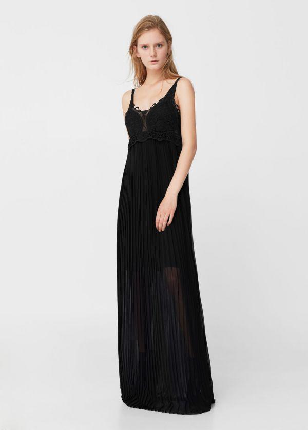 Mango Siyah Askılı Elbise Modelleri