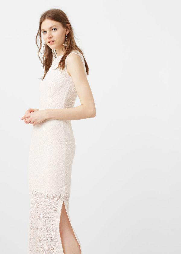Yandan Yırtmaçlı Oldukça Hoş Mango Elbise Modelleri 2017