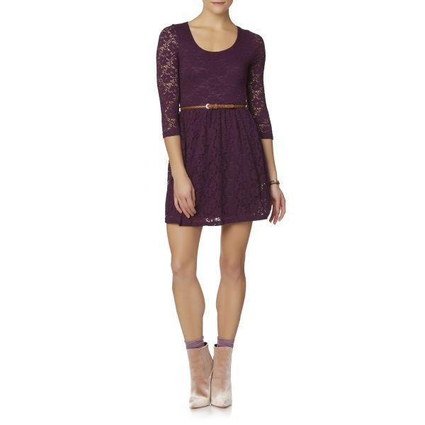 Dantel İşlemeli Kemer Detaylı Elbise Modelleri 2017
