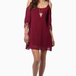 En Tarz Omzu Açık Elbise Modelleri