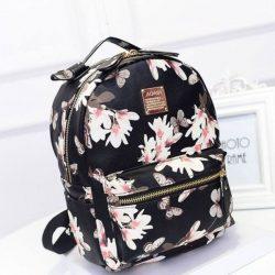 Çiçek Desenli Sırt Çanta Modelleri 2018
