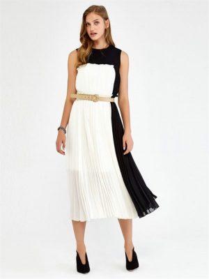 2018 İpekyol Pileli Elbise Modelleri