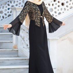 2019 Bolerolu Tesettür Abiye Modelleri
