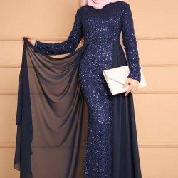 En Güzel Tesettür Abiye Modelleri 2019