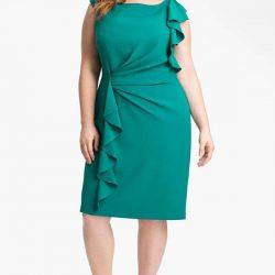 En Zarif Büyük Beden Elbise Modelleri