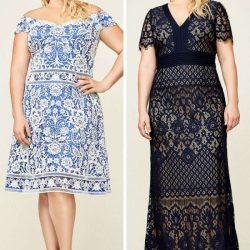 Etnik Desenli Büyük Beden Elbise Modelleri 2019