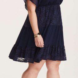 Güpürlü Büyük Beden Elbise Modelleri 2019
