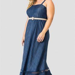 Büyük Beden Kot Elbiseler 2019