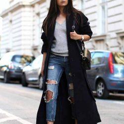En Güzel Yırtık Kot Pantolon Kombinleri 2019