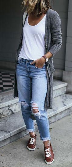 En Güzel Yırtık Kot Pantolon Modelleri 2019