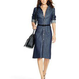 Kemer Detaylı En Şık Kot Elbiseler 2019