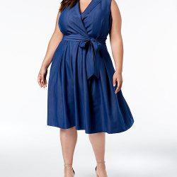 Kilolular İçin Kot Elbise Modelleri 2019
