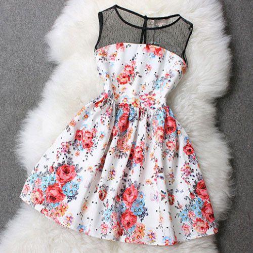 Çiçek Desenli Kloş Elbise Modelleri 2020