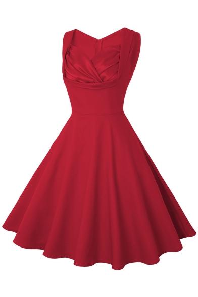 Mini Boy Kırmızı Renkli Kloş Elbise Modelleri 2020