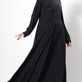 Yeni sezon tesettür kloş elbise modelleri 2020