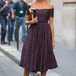 Kayık yaka elbise modelleri 2021