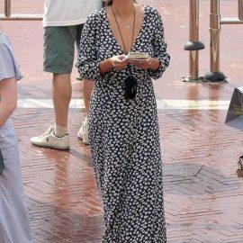 Uzun günlük elbise modelleri (Selena Gomez)