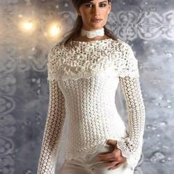 Örgü Beyaz Dantelli Bluz Modelleri