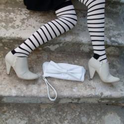 Siyah Beyaz Desenli Çorap Modelleri