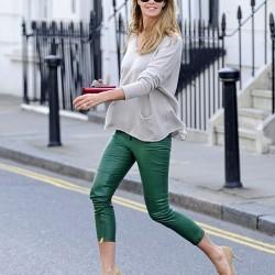 Yeşil Yeni Kapri Pantolon Modelleri