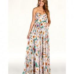Çiçekli Maksi Elbise Modelleri
