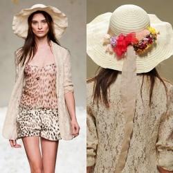 Çiçekli Yeni Hasır Şapka Modası