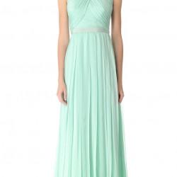 Drapeli Mint Yeşili Yazlık Elbise Modelleri