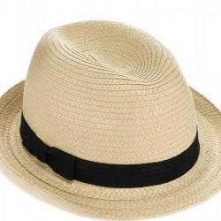 Krem Yeni Hasır Şapka Modası