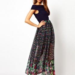 Uzun Günlük Elbise Modelleri