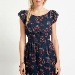 Çiçekli Yeni Mudo Elbise Modelleri