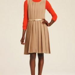 Şık Pileli Elbise Modelleri 2014