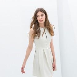 Beyaz Pileli Elbise Modelleri 2014