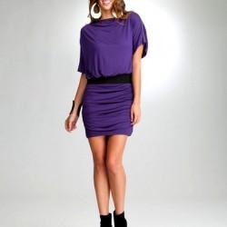 Mini Mor Yazlık Elbise Modelleri