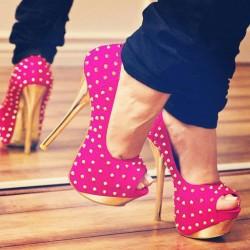 Platform Yeni Pembe Yazlık Ayakkabı Modelleri