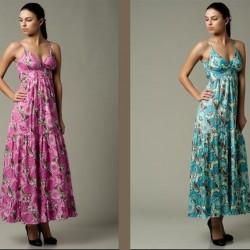 Renkli Batik Yazlık Elbise Modelleri