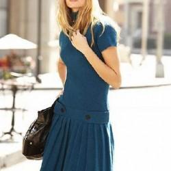 Sade Pileli Elbise Modelleri 2014