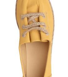 Sarı Yazlık Bez Ayakkabı Modelleri