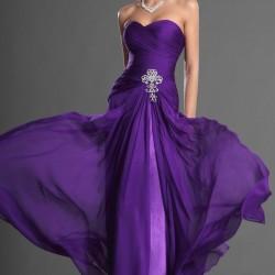 Straplez Mor Yazlık Elbise Modelleri