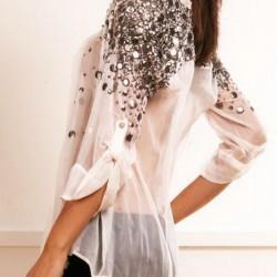 Taşlı Bluz Modası