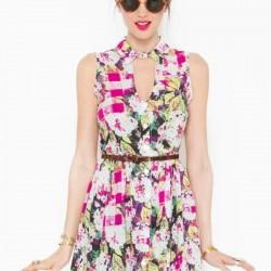 Yeni Çiçekli Elbise Modelleri