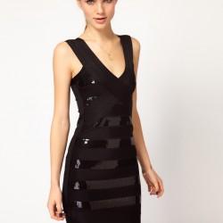 Şeritli Bershka Elbise Modelleri